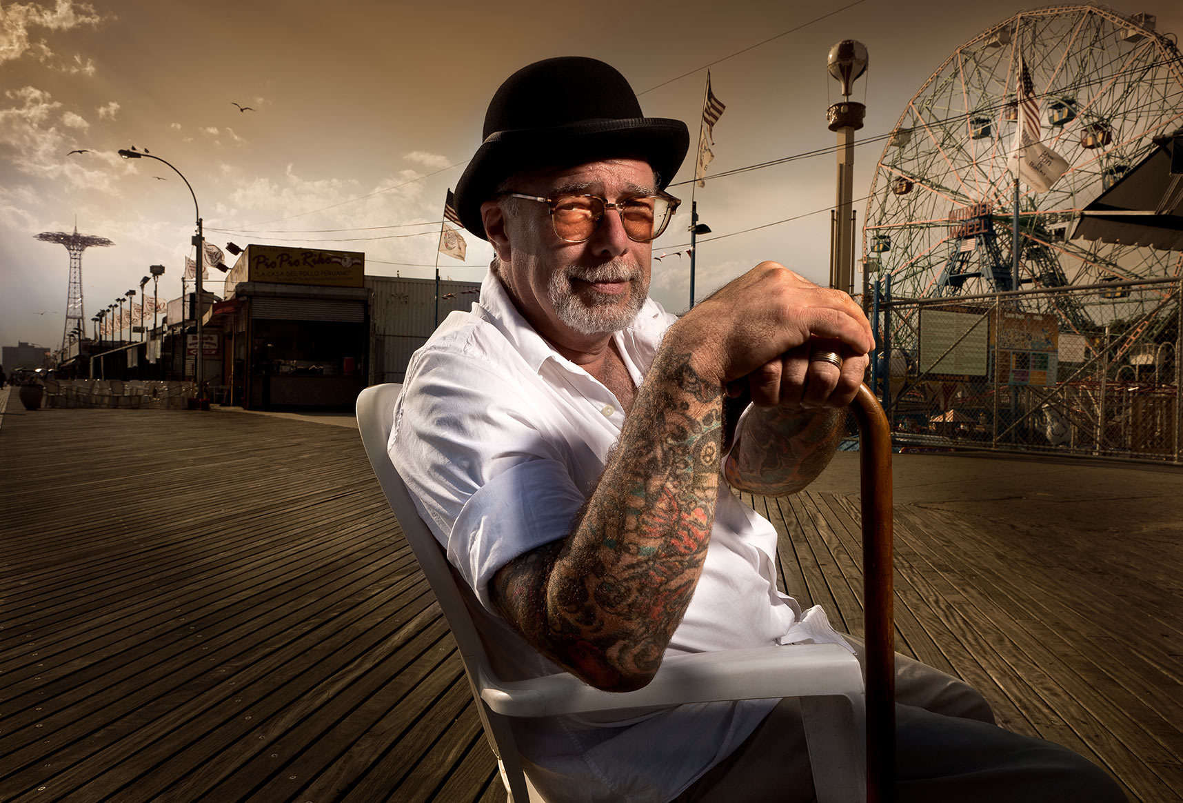 """Mayor of Coney Island"" Dick Zigun   founder of the non-profit arts group Coney Island USA portrait for FT Financial Times of London : Portraits : NY - Portrait Photographer Video, Architectural, Corporate Editorial Location Photography"