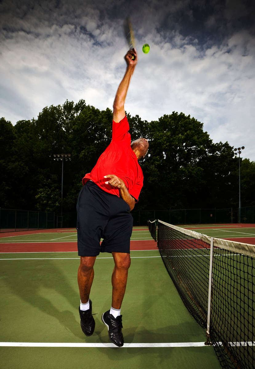 Heart medicine story for Forbes magazine with Earl Anderson who used the new drug instead of having surgery.  Earl is an avid tennis player : Portraits : NY - Portrait Photographer Video, Architectural, Corporate Editorial Location Photography