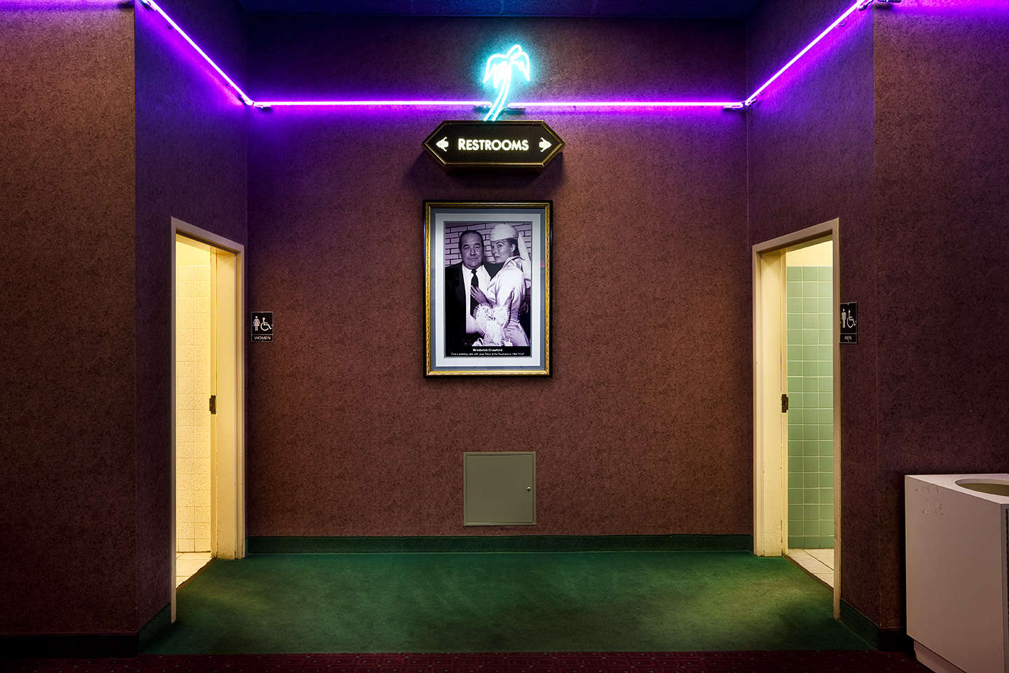 Restroom area Tropicana Hotel, Las Vegas, Nevada. : On The Road : NY - Portrait Photographer Video, Architectural, Corporate Editorial Location Photography