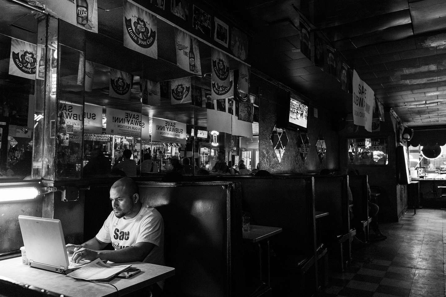 Owner Steve Salinas - Disappearing New York - Subway Bar Inn after 75 years had to move to make room for another luxury high rise apartment building. : Disappearing NY - Subway Bar Inn : NY - Portrait Photographer Video, Architectural, Corporate Editorial Location Photography