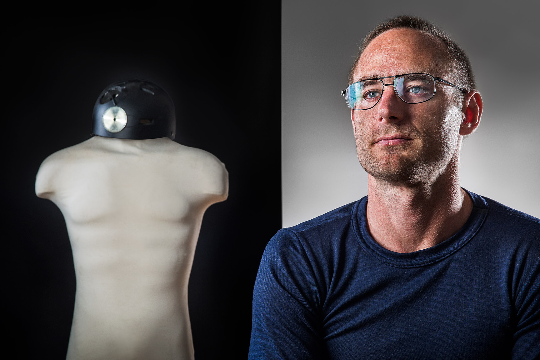Dr. Lee von Kraus scientist working on brain circuit modification to allow novel cognitive abilities / for Wirtschafts Woche Publication, Germany : Portraits : NY - Portrait Photographer Video, Architectural, Corporate Editorial Location Photography