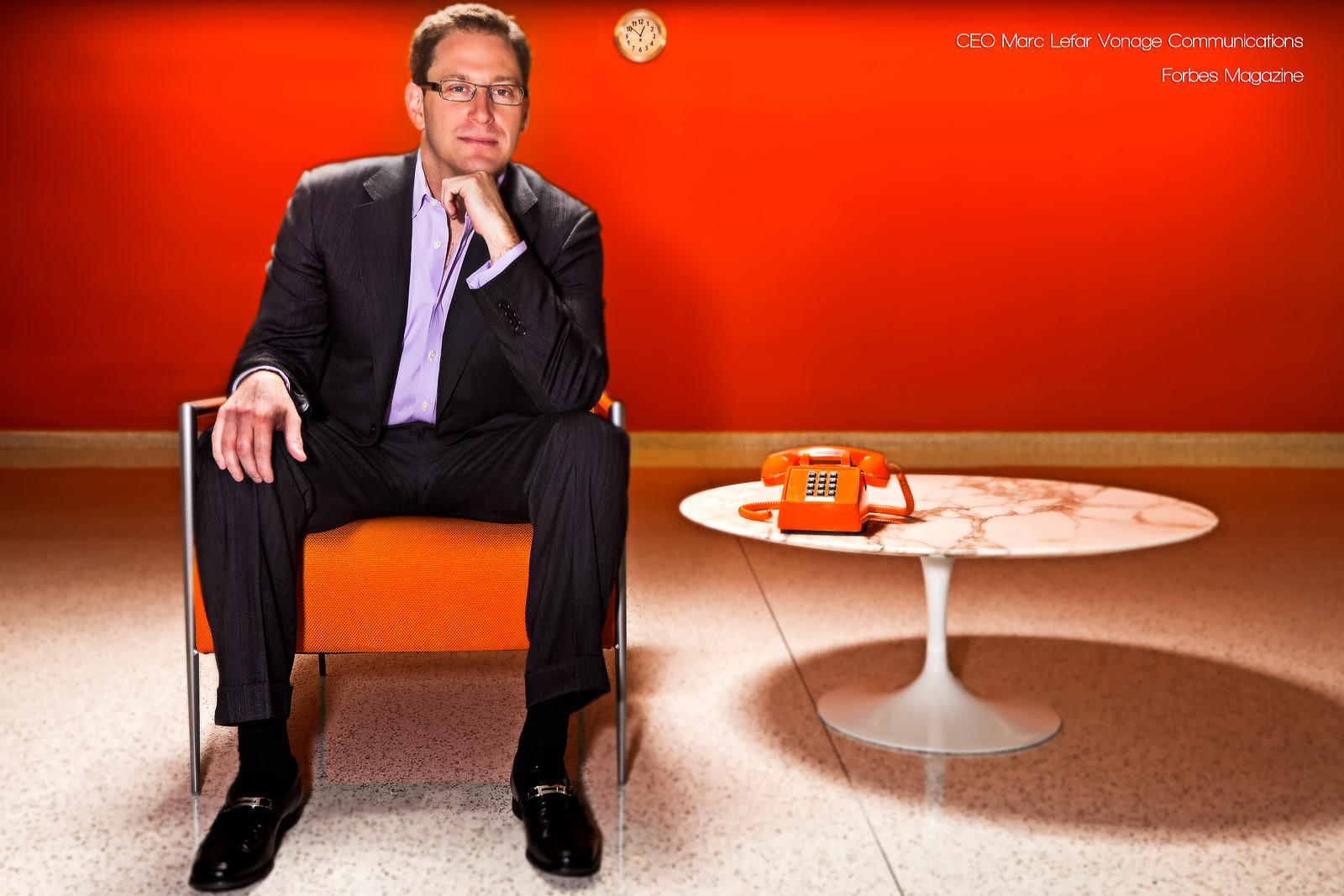 Vonage CEO Marc Lefar for Forbes Magazine - corporate portrait : Corporate Portraits : NY - Portrait Photographer Video, Architectural, Corporate Editorial Location Photography