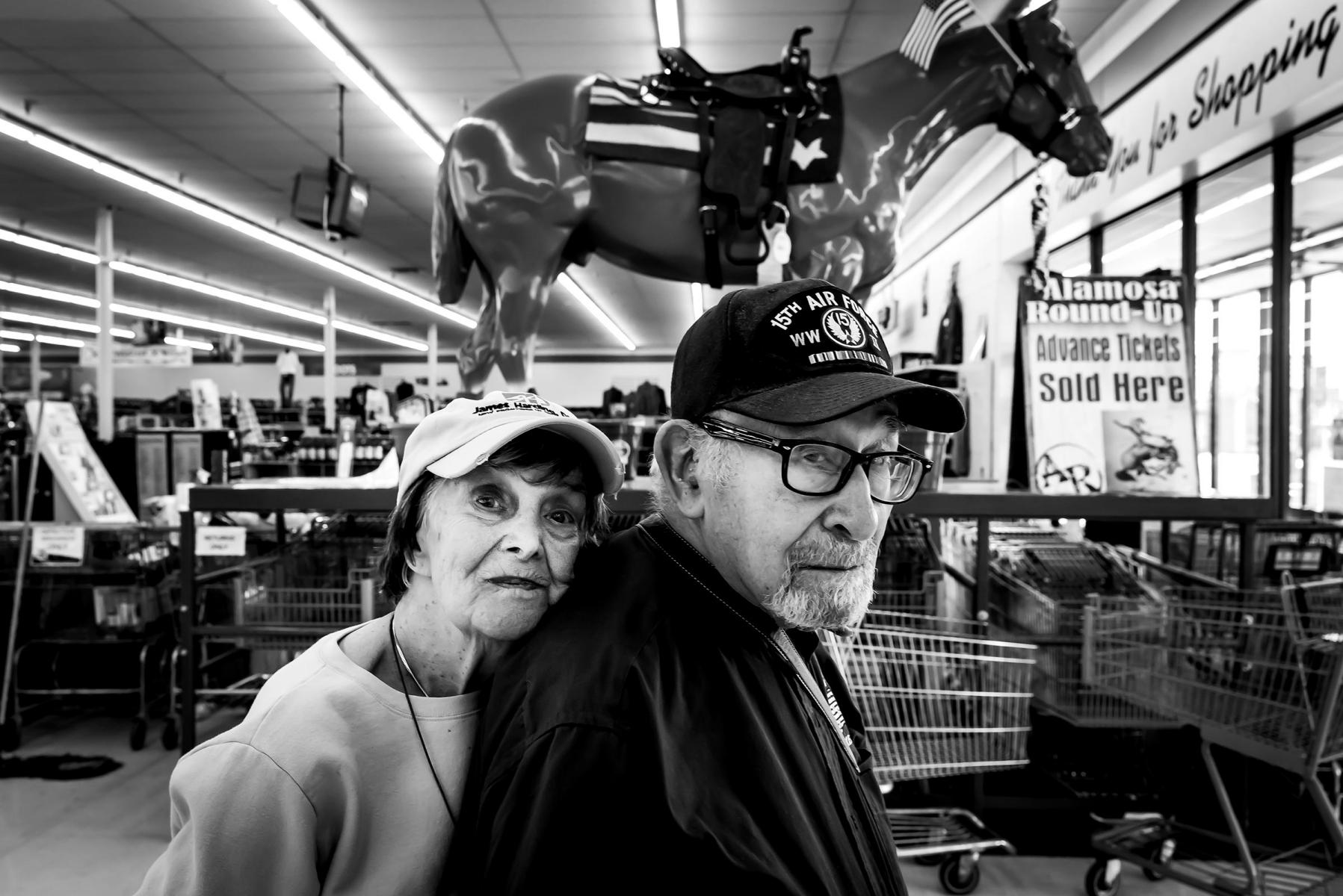 Richard and mom shopping in Monte Vista, CO. : Visiting Mom : NY - Portrait Photographer Video, Architectural, Corporate Editorial Location Photography