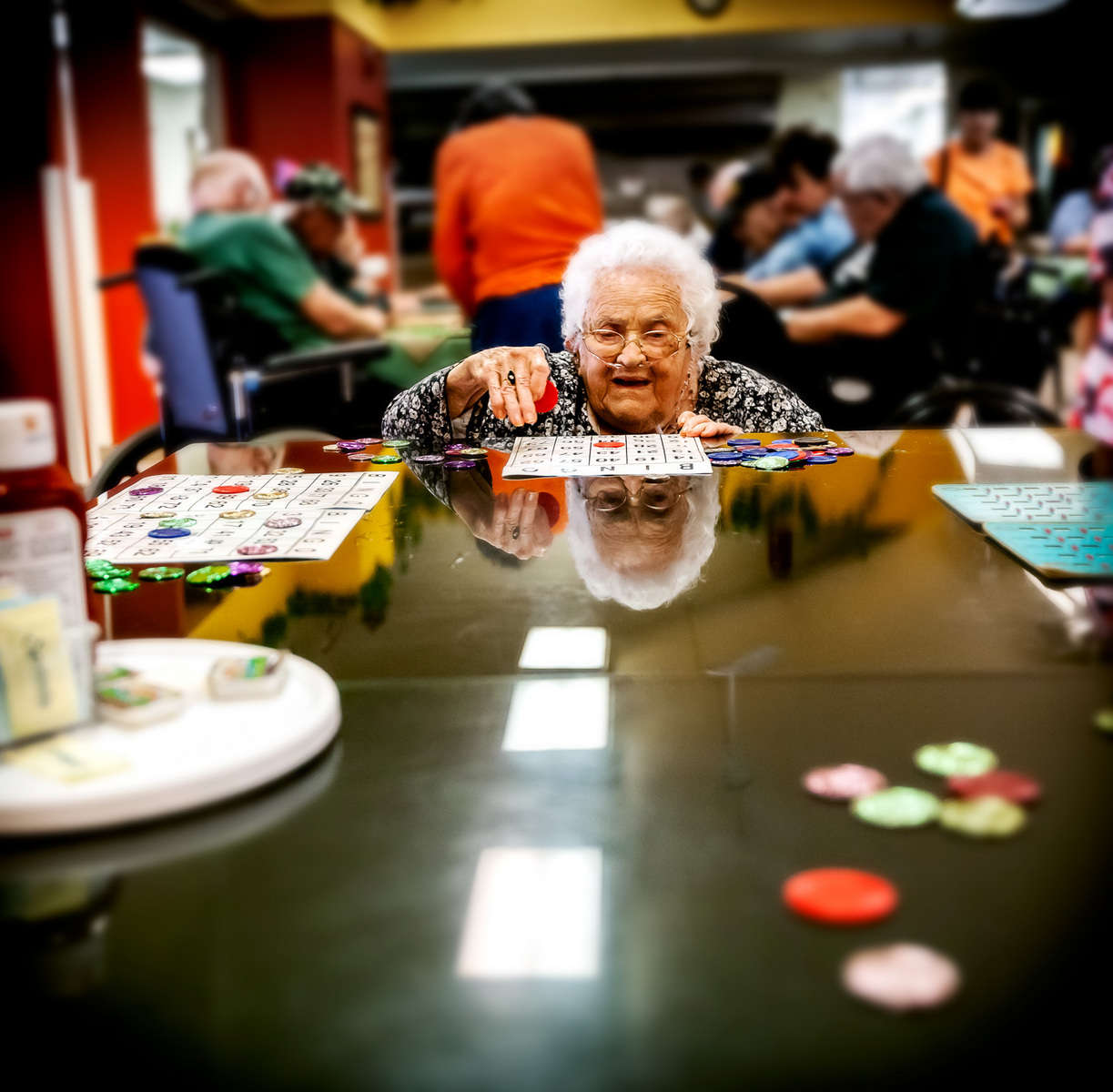 Bingo at the VA Center Homelake, CO : Visiting Mom : NY - Portrait Photographer Video, Architectural, Corporate Editorial Location Photography