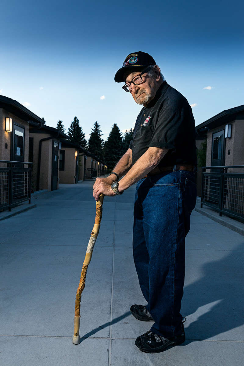 Richard Gottlieb senior at the Veteran Center Homelake Colorado portrait used in promo book printed by Xerox Corportation featuring their iGen printing press : Portraits-Keywording : NY - Portrait Photographer Video, Architectural, Corporate Editorial Location Photography