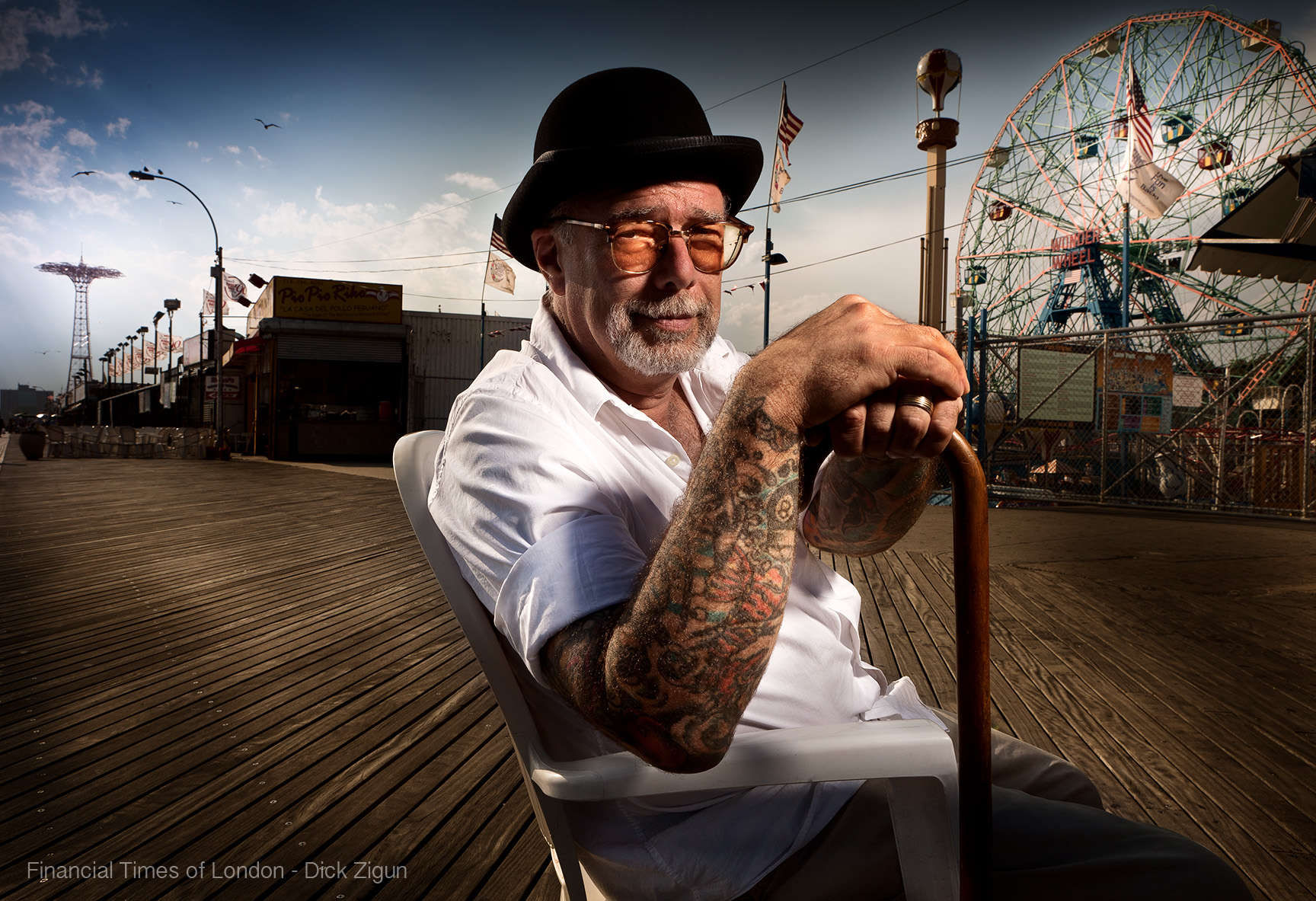 Dick Zigun founder of the Mermaid Parade Coney Island Brooklyn Forbes magazine : Portraits-Keywording : NY - Portrait Photographer Video, Architectural, Corporate Editorial Location Photography