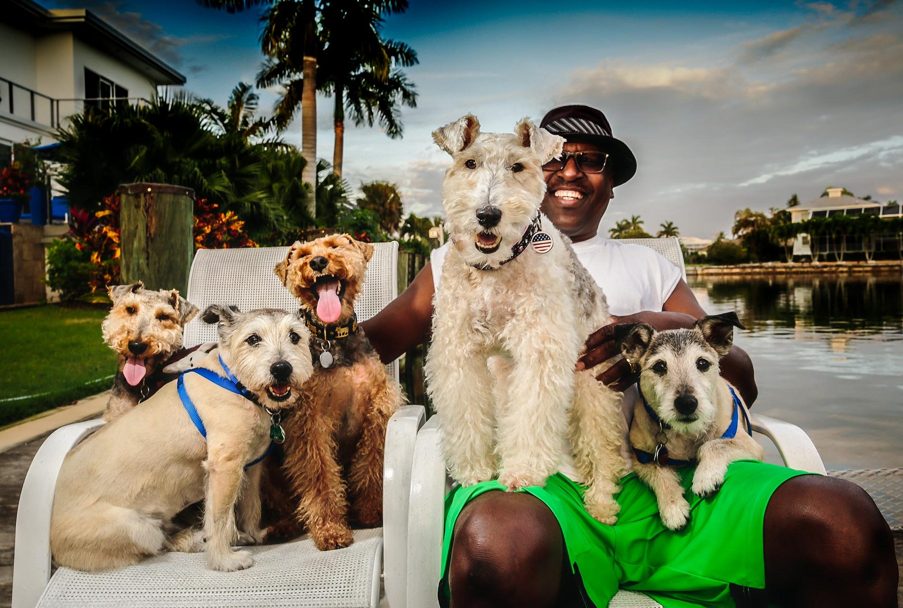 Dogs with owner - West Coast Florida : Portraits : NY - Portrait Photographer Video, Architectural, Corporate Editorial Location Photography