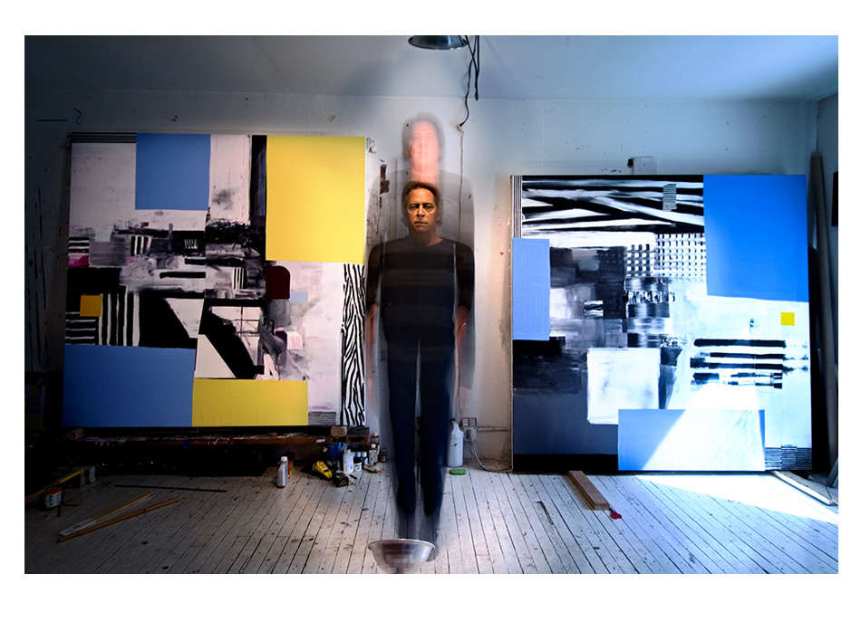 Painter Donald Vaccino in New York City studio for SPACE magazine article on his paintings : Portraits-Keywording : NY - Portrait Photographer Video, Architectural, Corporate Editorial Location Photography